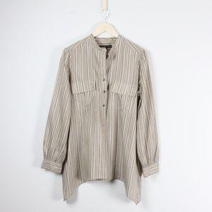 0b416bd0c6975d Elizabeth and James Tops - Elizabeth and James June Silk Striped Tunic Shirt